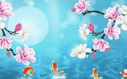 祝福语:愿你生活比春花艳,愿你事业比月亮圆